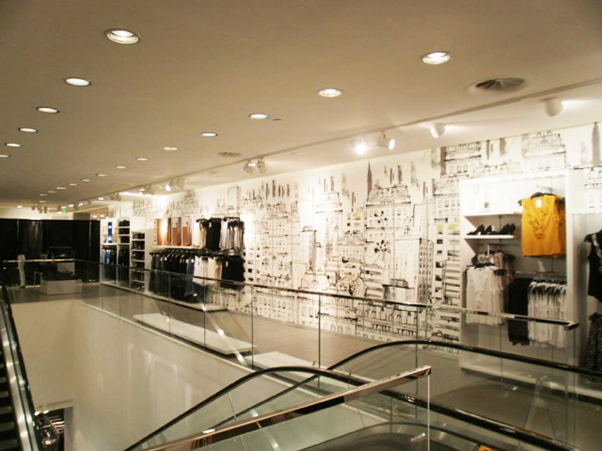 H&M Boston store interior