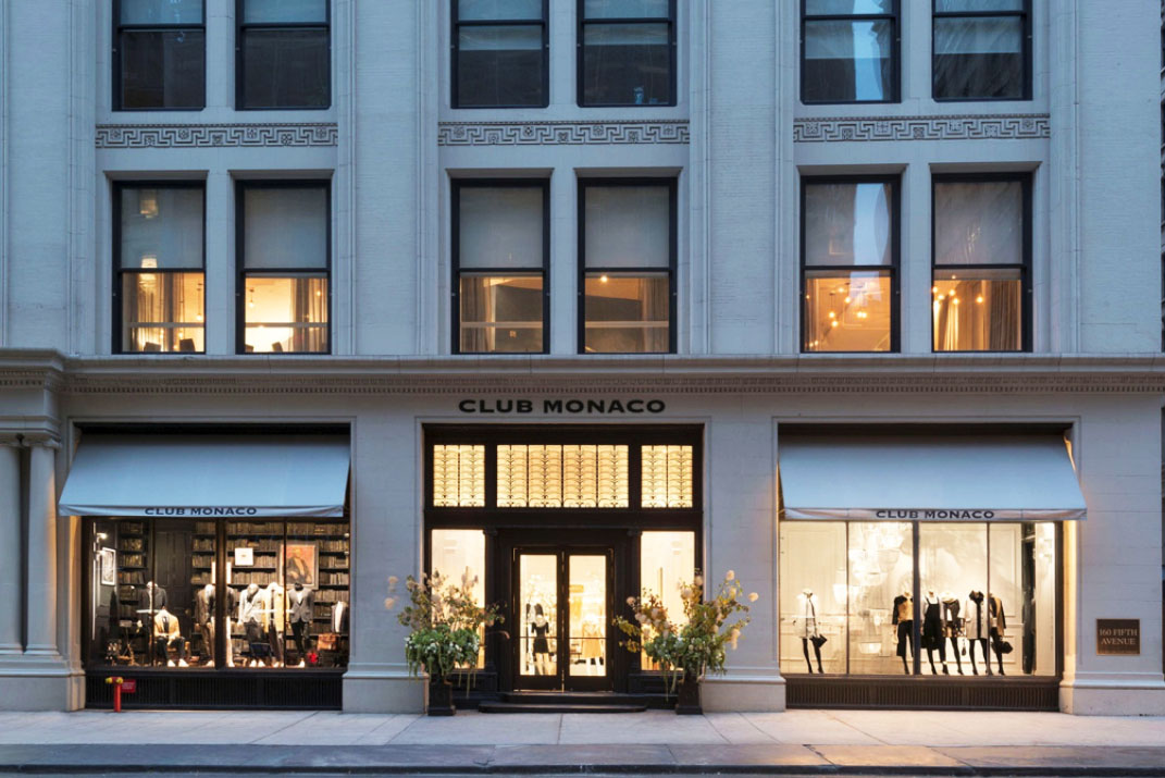 Club Monaco 5th Avenue store exterior