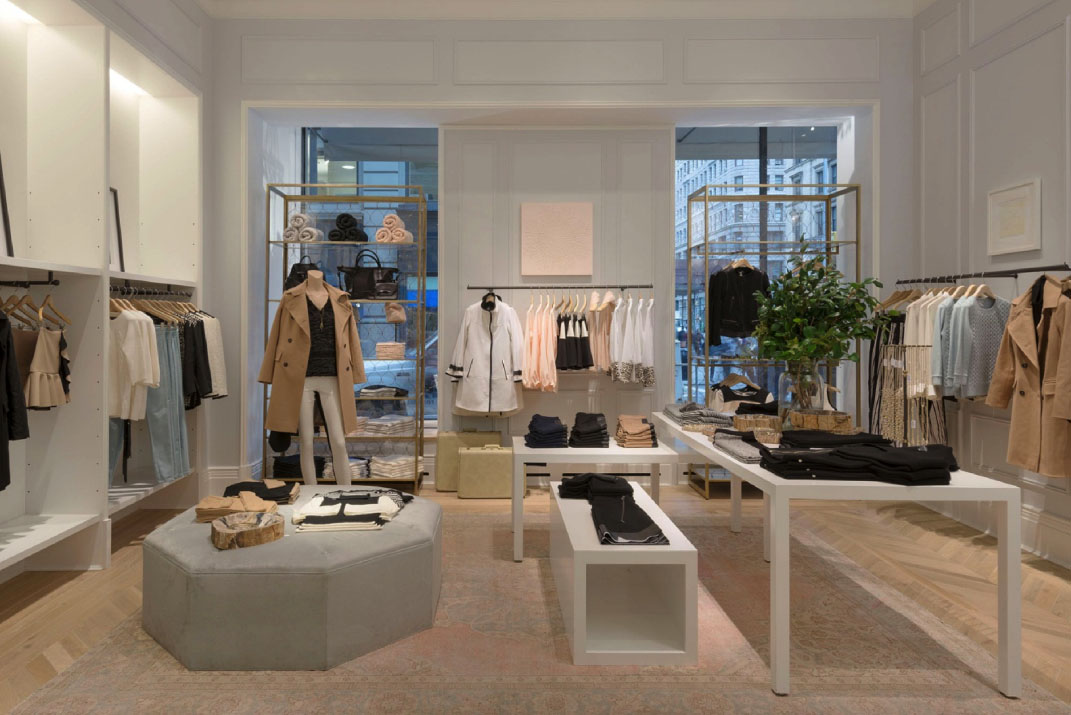 Club Monaco 5th Avenue store interior