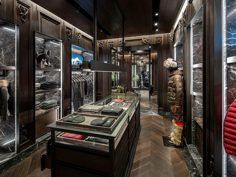 Moncler store interior