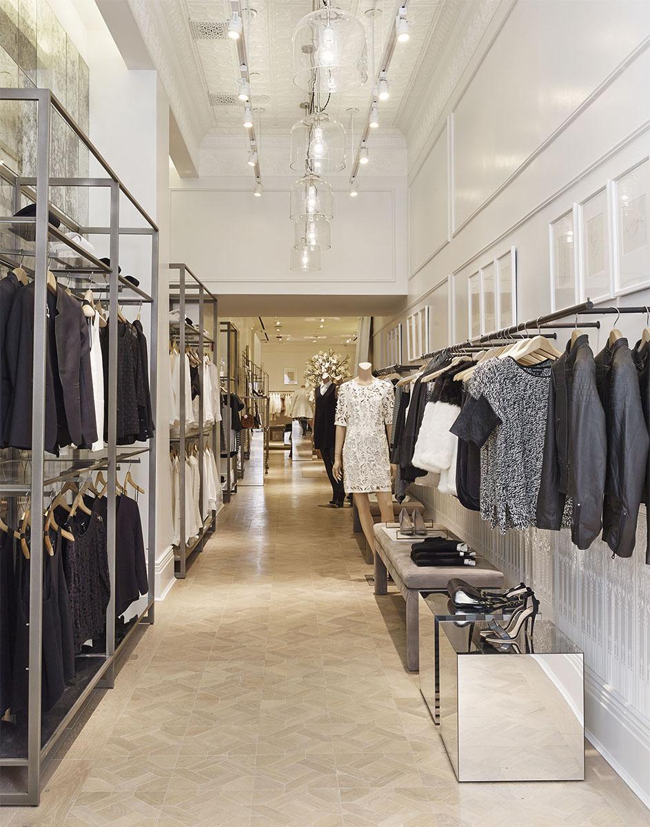 Club Monaco Soho store interior