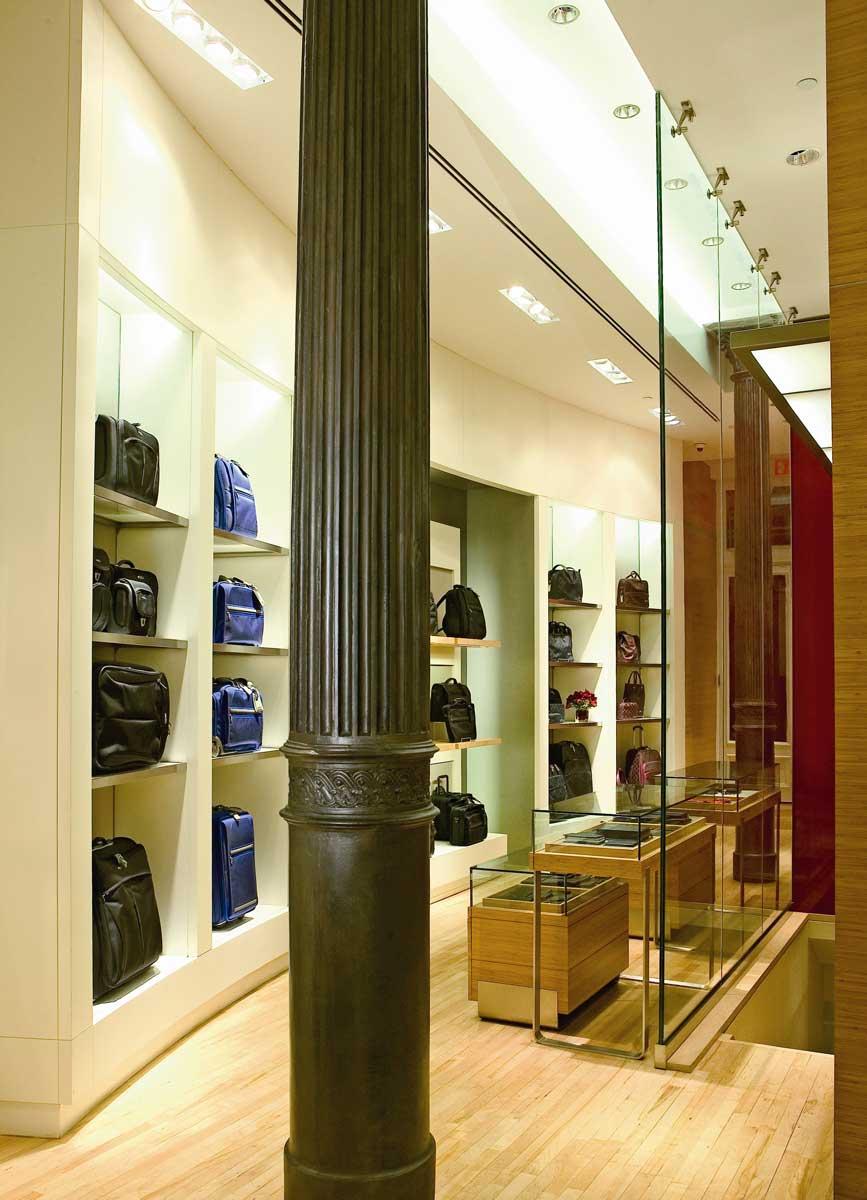 TUMI Soho store interior