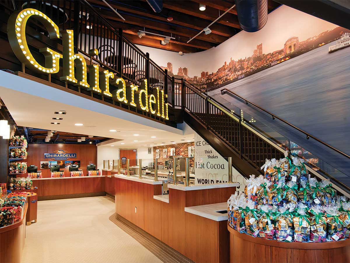 Ghiradelli Faneuil Hall store interior