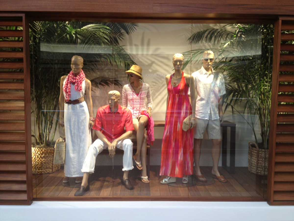 Tommy Bahama's store window