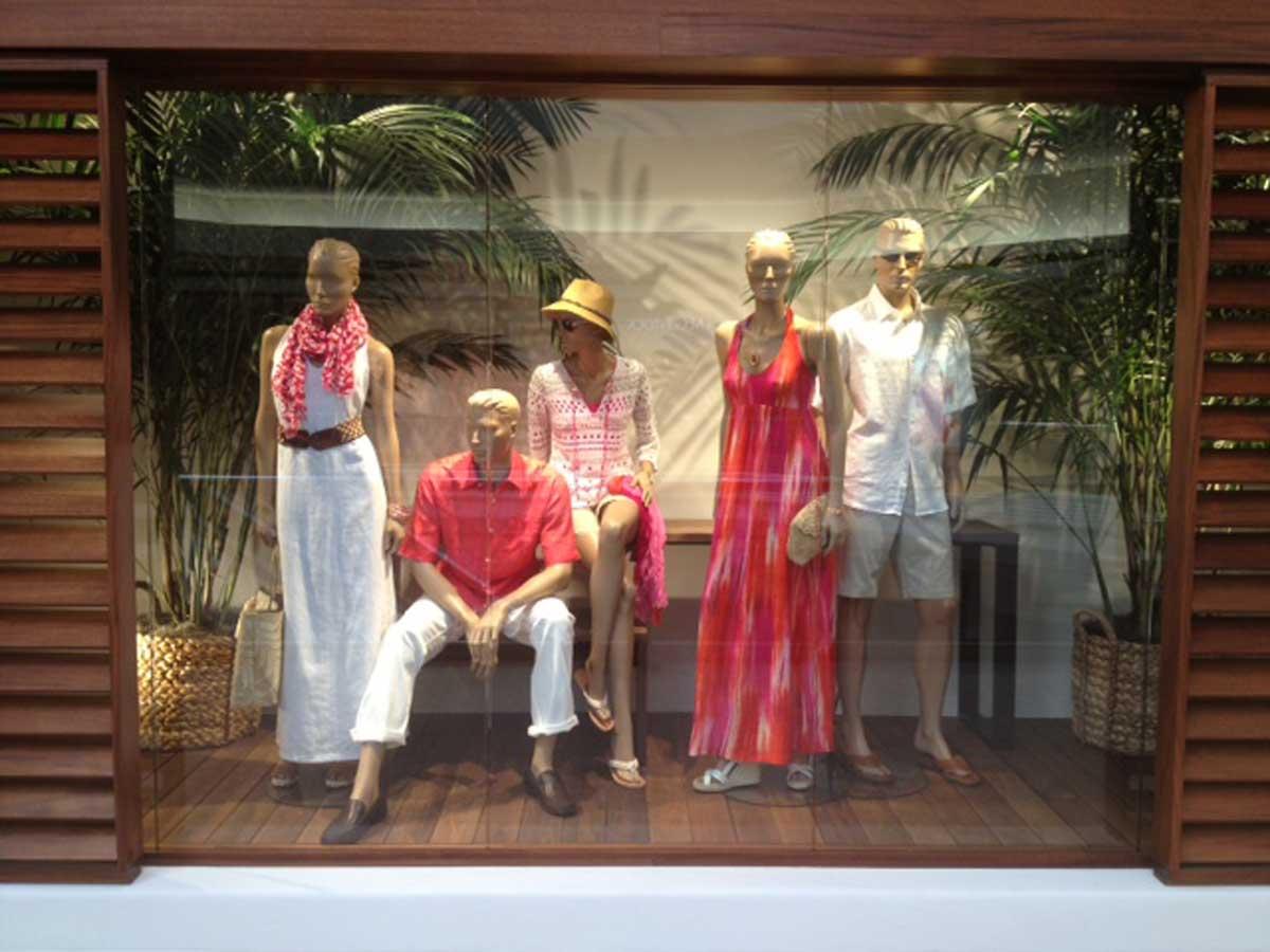 Tommy Bahama's store window